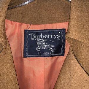 Vintage Burberry brown tan suit jacket blazer